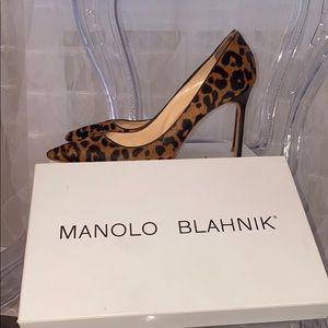 Manolo Blahnik Leopard Calf Hair BB 105